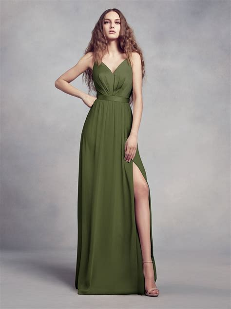 al longdress olive the newest color from vera wang an olive bridesmaid dress