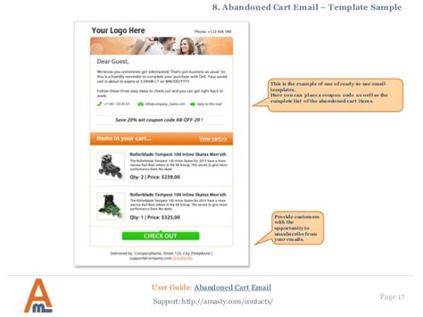 Abandoned Cart Email Magento Extension By Amasty User Guide Abandoned Cart Email Template Shopify