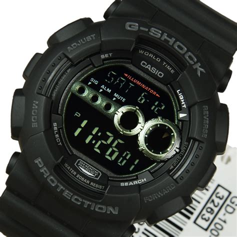 Gshock Time casio g shock mens world time alarm gd 100 1b gd100