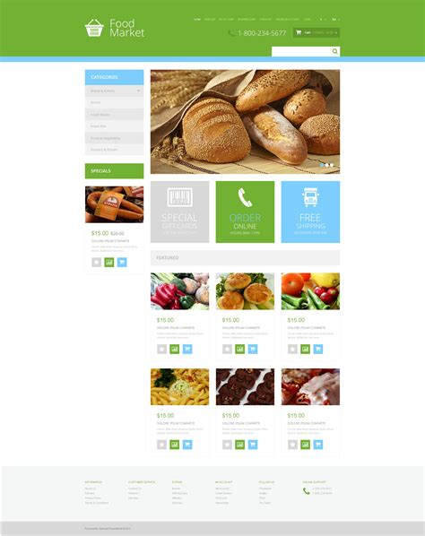Grocery Store Responsive Opencart Template 48009 Free Grocery Website Templates