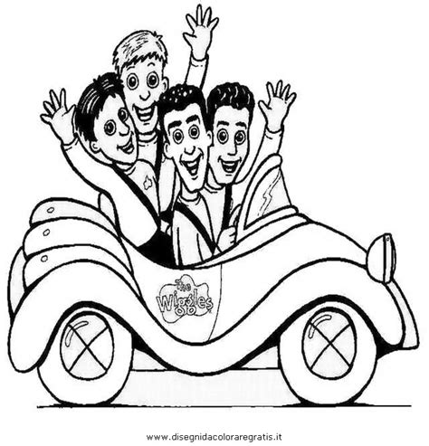 The Wiggles Coloring Coloring Pages The Wiggles Colouring Pages