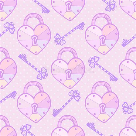 cute key pattern valentines pattern cute vector seamless texture with