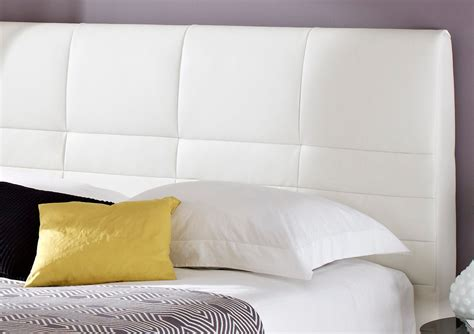 King Size White Leather Headboard york leather white tv bed king size beds bed sizes