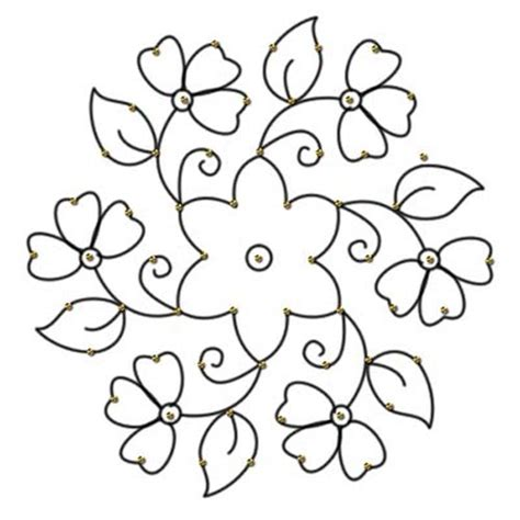flower pattern easy to draw simple flower border designs to draw clipart best