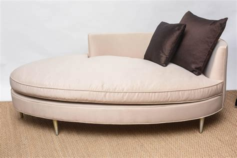 sofa oval oval shaped recamier chaise at 1stdibs