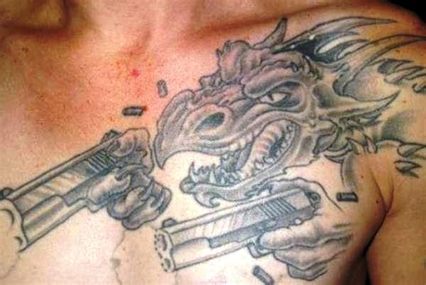 tattoo chest gun gun tattoos and designs page 21