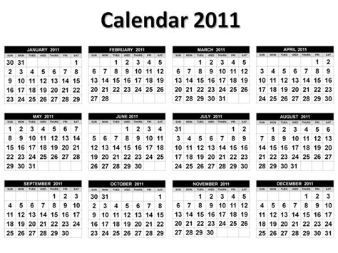 printable calendar year on one page free printable 2011 calendar on one page pictures 1