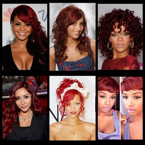 burgundy hair color on skin musely