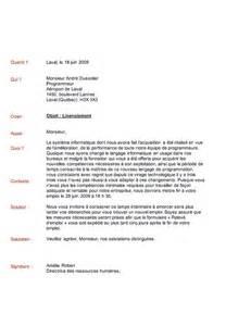 sample cover letter exemple de lettre de cong 233 diement