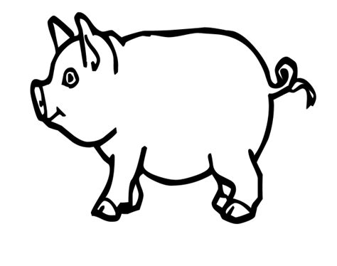 Funny Creature 26 Pig Coloring Pages For Kids Print | funny creature 26 pig coloring pages for kids print