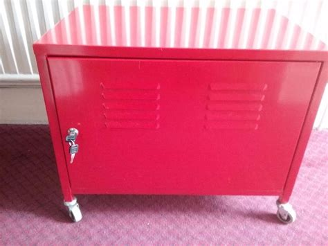 ikea metal cabinet ikea red metal cabinet with 2 keys on wheels solid