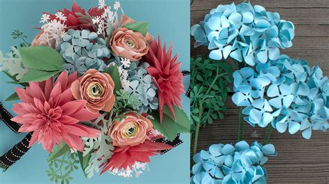 How To Make A Paper Flower Bouquet - how to make a paper flower bouquet hydrangea