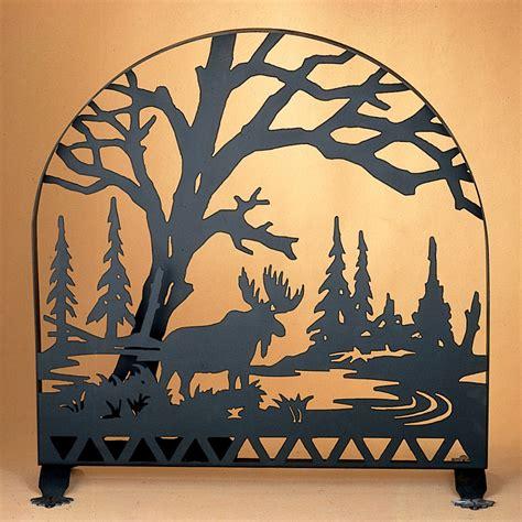 meyda 28735 moose creek arched fireplace screen
