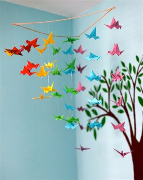 Easy Origami Decorations - 20 origami decor ideas for a room kidsomania