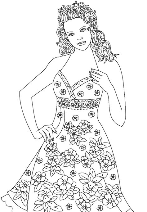 Fashion Model Coloring Page Coloring Book Fashion Model Coloring Pages