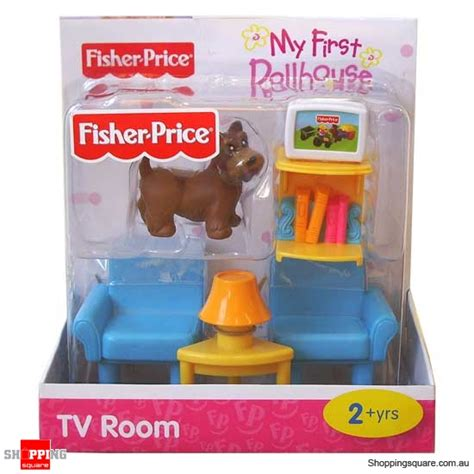 fisher price my first dolls house fisher price my first dollhouse furniture tv room online shopping shopping square