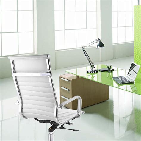 Ergonomic Home Office Desk Ergonomic High Back Pu Leather Office Chair Computer Desk Home Seat Colors Opt Ebay