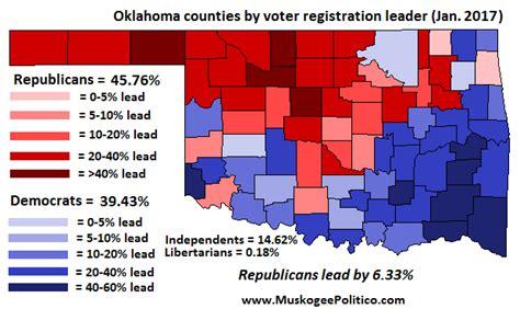 oklahoma voter list information oklahoma voter registration map january 2017