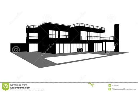 modern home design vector contemporary house with a swimming pool silhouette stock