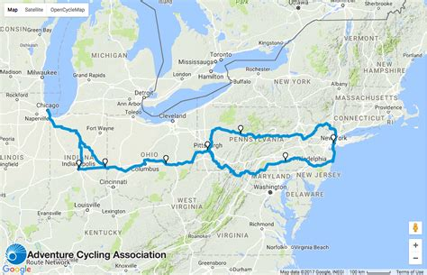 new on the map maps bike 1 100 from chicago to nyc on
