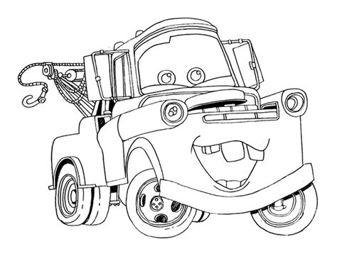 printable coloring pages vehicles free printable disney cars tow mater coloring pages 507203