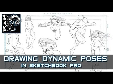 sketchbook pro indonesia drawing dynamic comic book poses sketchbook pro 7 narrated