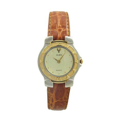 Alba Ary96g Jam Tangan Wanita Gold jual alba ata52j jam tangan wanita silver gold