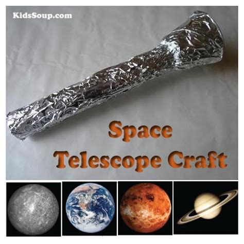 Paper Telescope Craft - telescope craft and outer space vocabulary review kidssoup