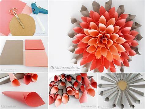 paper dahlia flower tutorial paper dahlia wreath tutorial our daily ideas