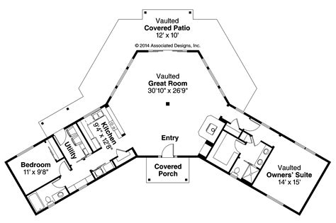 hexagon house floor plans hexagonal house plans escortsea