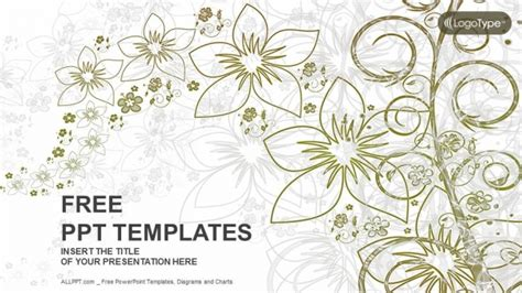 Baroque Home Decor Abstract Floral Nature Powerpoint Templates