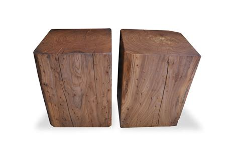 wood cube coffee table reclaimed solid wood cube coffee tables and side tables by