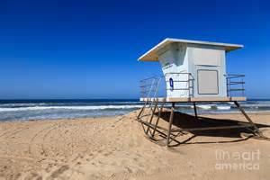Seaside Duvet Cover Huntington Beach Lifeguard Tower Photo Photograph By Paul