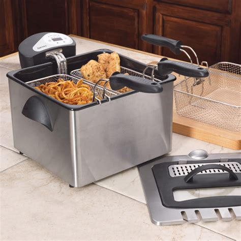 review aroma adf 212 digital dual basket fryer wired