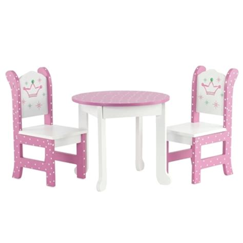 18 Inch Doll Table And Chairs by 18 Inch Doll Furniture Table And 2 Chairs Fits
