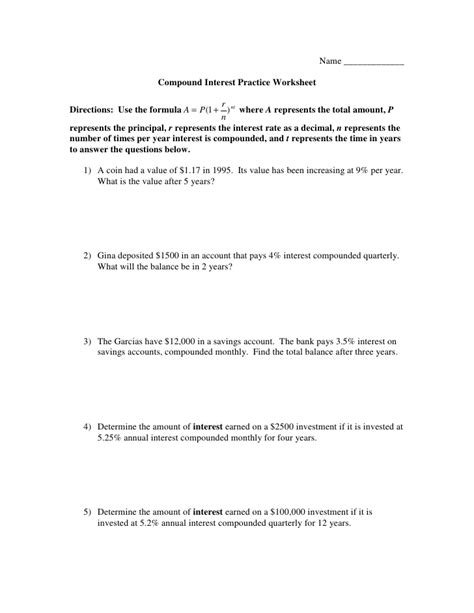Calculating Simple Interest Worksheet by Worksheets Calculating Simple Interest Worksheet