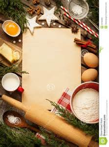 Christmas Kitchen Decorations - christmas baking cake background with dough ingredients stock photo image 44790493