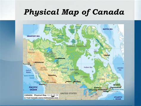 map of canada physical ppt unit 1 navigation powerpoint presentation id 5361290
