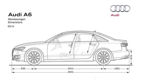 Audi A6 Abmessungen by Dimensions Gt Audi