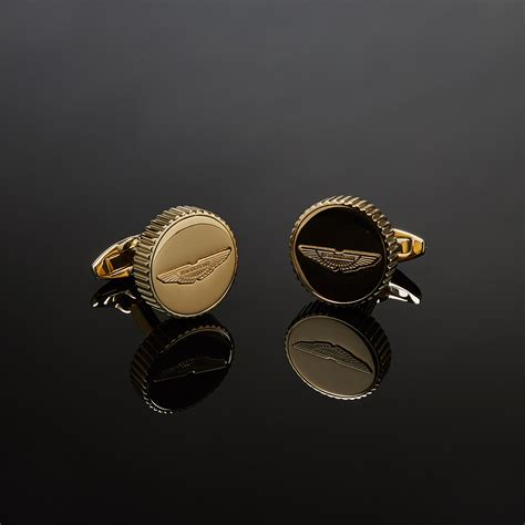 rose gold aston martin aston martin logo cufflinks rose gold aston martin