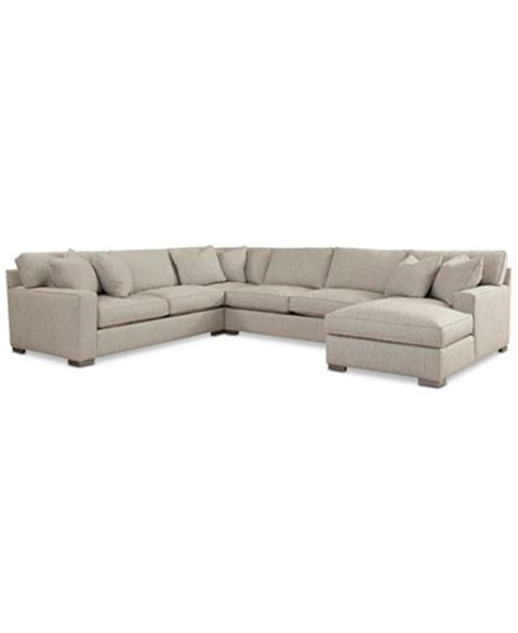 rhyder 4 pc fabric sectional with chaise ripa ton 4 pc fabric sectional with chaise only