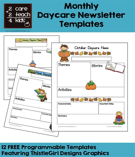 childcare newsletter templates child care newsletters free printable templates
