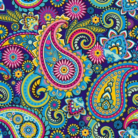 paisley pattern vector free download floral paisley pattern seamless vector free vector in