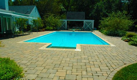 stone pool deck pool decks hirsch brick and stone