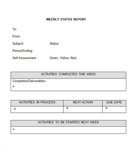 Weekly Update Template by Weekly Status Report Template 12 Free Word Documents