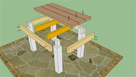 Wood Patio Table Plans by Patio Table Plans Howtospecialist How To Build Step