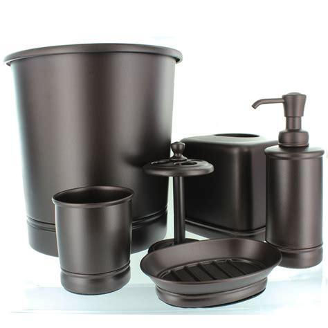 oil rubbed bronze bathroom accessories set