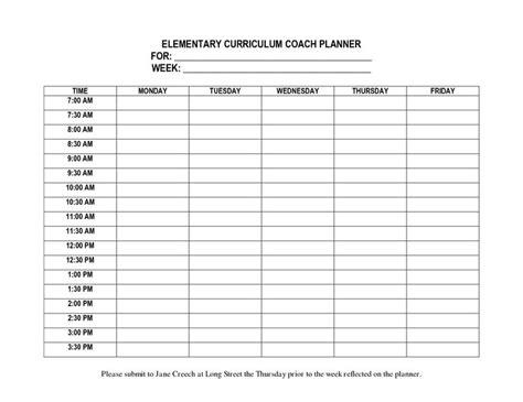 student planner template student planner templates elementary curriculum coach