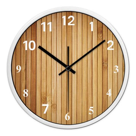 wall clock for bedroom fashion mute bamboo clock sitting room bedroom retro