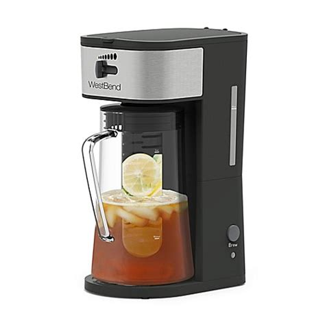 bed bath and beyond ice maker west bend 174 ice tea maker in grey bed bath beyond